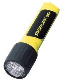 Streamlight® Yellow ProPolymer® Flashlight With White LED And Alkaline Batteries (4 AA Alkaline Batteries Included) (Blister Pack)