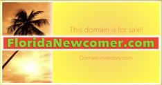 With millions migrating into the sunshine state there's no better title for a WELCOME TO FLORIDA website than FloridaNewcomer.com! The domain is for sale at Domain-inventory.com! Best Titles, Name Logo, Sunshine State, How To Find Out, Florida, Names, Website, Logos, The Florida