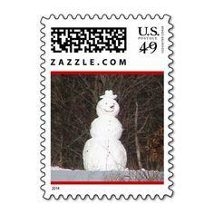 Winter Joy Snowman Stamp
