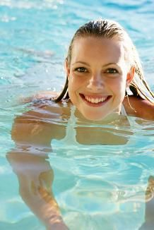 tips for hair and skin care for swimmers. This is excellent now that I am swimming often!