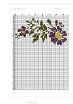 Cross Stitch Charts, Cross Stitch Patterns, Flower Chart, Crochet Doilies, Pattern Fashion, Embroidery, Creative, Floral, Fair Isles