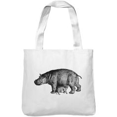 Mintage Mother Hippo Museum Tote Bag