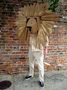 Cardboard Lion | Flickr - Photo Sharing Photo by Catherine Markel For more info: http://www.flickr.com/photos/catherinemoles/5511170122/in/photostream/