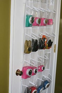 Punch Storage paper punches in shoe organizer. Here's another idea. Scrapbook Room Organization, Craft Organization, Scrapbook Rooms, Organizing Life, Paper Punch Storage, Craft Paper Storage, Craft Room Lighting, Basement Craft Rooms, Creative Storage