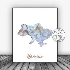 Ukraine Print, Watercolor Print, Ukraine Map Art, Map Painting, Wedding Gift, Country Art, Office Decor, Country Map ArtPrintsZoe #ArtPrintsZoe #WatercolorPrint #Ukraine #CountryArt #MapArtPrint #CountryMapArt #ArtPrint #OfficeDecor #WeddingGift #CountryMap