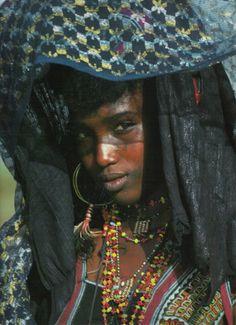 Wodaabe woman, West Africa.