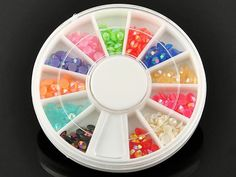 1-Set Perfect Popular 3D Acrylic Rhinestones Nail Art Wheel Non-Toxic Case Fashion Cellphone Pattern Style -17 ** See this great product.