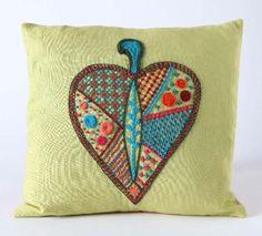 Kristin+Nicholas+-+Crewel+Heart+Pillow