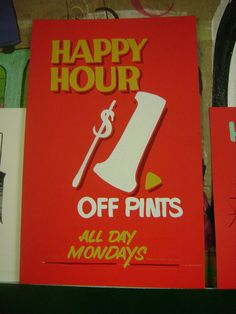 Pints Sho' Card by Golden West Sign Arts