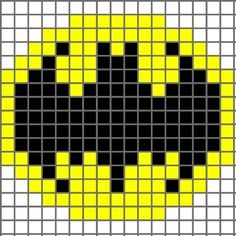 Free Batman Logo Cross Stitch Chart or Hama Perler Bead Pattern Crochet Pixel, Crochet Chart, Crochet Stitches, Free Crochet, 8 Bit Crochet, Pixel Crochet Blanket, Hat Crochet, Knitting Charts, Knitting Patterns