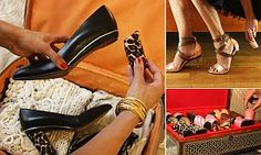 Tanya Heath invents shoes that feature world's first convertible heels | Daily Mail Online