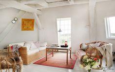 In the mill, Denmark, livingroom, coast, interior, design, summer Photo: Lina Östling