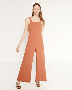 Image 1 of JUMPSUIT WITH SIDE PRINT from Zara