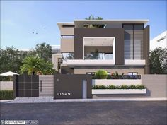landscape architecture - ideas for house minimalist exterior style Best Modern House Design, Duplex House Design, Modern House Plans, Front Wall Design, Exterior Wall Design, Compound Wall Design, House Elevation, Modern Architecture House, Facade House