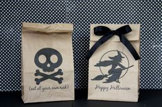 it is what it is: halloween lunch bags...