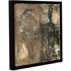 ArtWall Elena Ray Bodhi Leaf Skeletons Gallery-wrapped Floater-framed Canvas, Size: 36 x 36, Black