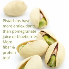 Did you know pistachios are so great for you?  Follow us for more fun facts about healthy foods!