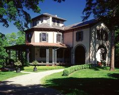 The mansion at the Locust Grove Estate - designed in 1852 by architect Alexander Jackson Davis