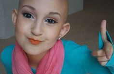 Talia Joy Castellano [13] was first diagnosed with cancer in 2007. The courageous teen went through many rounds of chemo, which eventually left her bald. Since she disliked wearing wigs, she turned to cosmetics to make herself feel more confident.   About a year and a half ago she launched a series of makeup tutorials on YouTube [taliajoy18]. She quickly racked up more than 335,000 followers and close to 27 million video views.