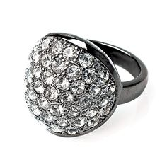 ORION SIZE 6 Item #: USML300706 Glimmering rhinestones encrust this gunmetal ring that's a stunning addition to any piece in the Starry Night Collection. Your Price:$45.00