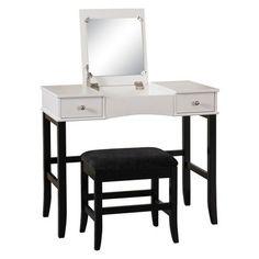 Linon Home Decor Vanity  - Black/White