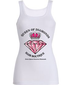 Queen of Diamonds Hair Boutique tank Top now available! www.queenofdiamondshairboutique.com