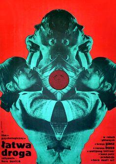 "felineillusion: "" Film posters created by Polish graphic designer Ryszard Kiwerski in the & "" Vintage Graphic Design, Graphic Design Layouts, Graphic Design Posters, Graphic Design Inspiration, Design Art, Graphic Art, Brochure Design, Cover Design, Poster Layout"