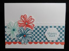 Gingham Flowers by lisacurcio2001 - Cards and Paper Crafts at Splitcoaststampers