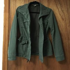 Green Cargo Jacket Green Cargo Jacket. Worn a few times, excellent condition. From Urban Outfitters. Super cute and comfortable. Fits like a small Ecote Jackets & Coats
