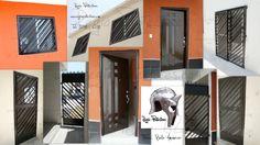 Protectores para ventanas y puerta principal contemporánea, Fracc. Bello Amanecer