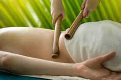 Massage with bamboo sticks