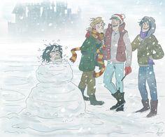 Snivellus the Snowman by Alatariel-Amandil.deviantart.com on @deviantART