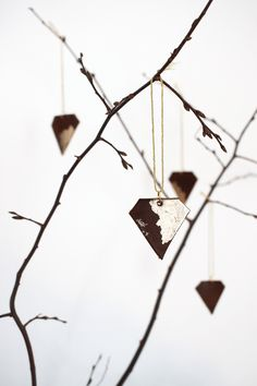 DIY Upcycled Leather Gemstone Ornaments by Idle Hands Awake for The Holiday Collective