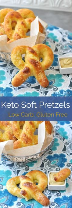 Keto Soft Pretzels | Peace Love and Low Carb via @PeaceLoveLoCarb