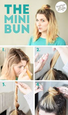 The Mini Bun   26 Incredible Hairstyles You Can Learn In 10 Steps Or Less