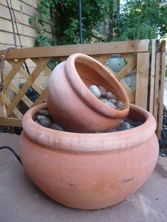 DIY Flower Pot Fountain