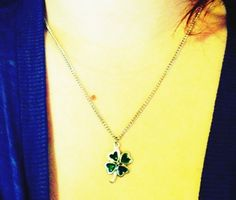 Jeweled Heart Shamrock Necklace   I got it from my cousin's little girl - I love it!