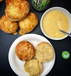 Cheese and Beer Scones  Delicious cheesy warm and fluffy scones served with a gooey cheesy beer dip.
