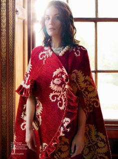 "Michelle Dockery stars in ""Swan Song"" for Harper's Bazaar UK October 2015 by David Slijper [fashion]"