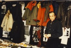 Designing a jacket, by Massimo Osti: fabric swatches, photocopies, vintage jackets, previous designs, scissors, pins, complete silence… cigarette.