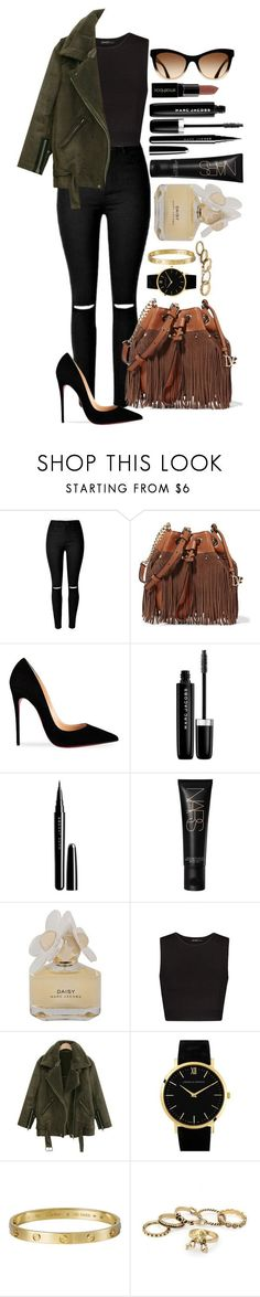 Untitled #1438 by fabianarveloc ❤ liked on Polyvore featuring Diane Von Furstenberg, Christian Louboutin, Marc Jacobs, Smashbox, Marc by Marc Jacobs, MANGO, Larsson & Jennings and Giallo