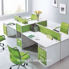 High Quality Cheap 4 Seater Office Modular Workstation Wooden