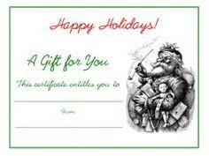 Vintage Santa Claus Christmas free printable holiday gift certificate blank