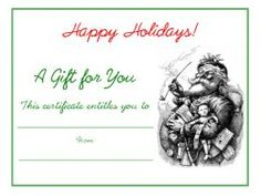 Free Holiday Gift Certificates Templates to Print | Candy canes ...