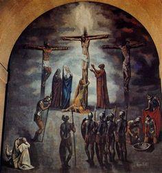 La Crucifixión - Alfonso Ramil (1955-57) Parroquia de Nuestra Señora de las Mercedes (Las Arenas)