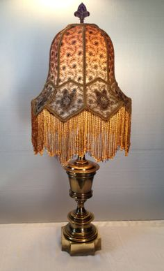 Unusual Vintage Shade With Fringe Victorian Lamps Antique