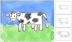 "Love this.  ""How to draw a cow"".  I think I could even do this -following these instructions!"