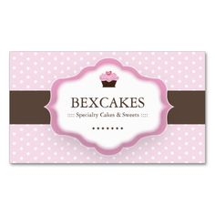 520 best bakery business card templates images on pinterest cute cupcake business card flashek