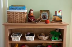 Organizing the Play Space Toy Shelves, Shelf, Montessori Toys, Kid Spaces, Furniture Projects, Nook, Organization, Play, Simple
