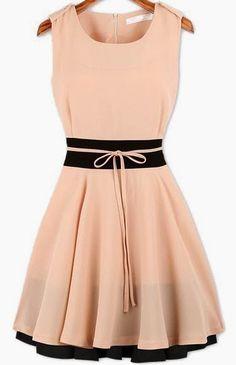 What to wear to a summer wedding!       Beautiful Blush + Black Dress     Grey Top with a Big Bow     Carlos Santana Sandals     Peachy...